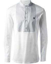 Alexander McQueen | White Contrast Yoke Shirt for Men | Lyst