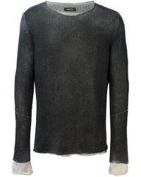 Avant Toi - Black Crew Neck Sweater for Men - Lyst