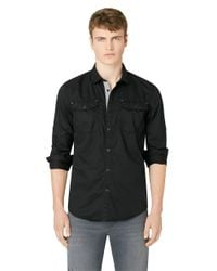 Calvin Klein Jeans | Black Solid Military Sportshirt for Men | Lyst
