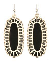 Kendra Scott - Black Dayla Oblong Earrings With Box - Lyst