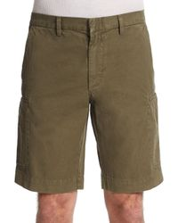 VINCE | Green Cotton Cargo Shorts for Men | Lyst