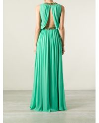 Jenny Packham | Green Draped Embellished Gown | Lyst