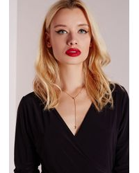 Missguided - Metallic Star And Moon Necklace - Lyst