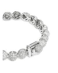 Eddie Borgo | Metallic Crystal Pavé Milgrain Medium Dome Bracelet | Lyst