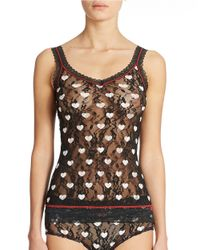 DKNY | Black Signature Lace Sweetheart Print Cami & Brief Set | Lyst