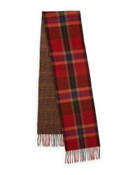 Polo Ralph Lauren | Red Italian Wool Plaid Scarf for Men | Lyst