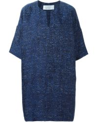 Gianluca Capannolo - Blue Jacquard Shift Dress - Lyst