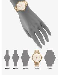 kate spade new york | Metallic Gramercy Grand Goldtone Stainless Steel & Mother-Of-Pearl Bracelet Watch | Lyst