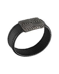 John Hardy | Metallic Mens Bedeg Stripe Leather Bracelet for Men | Lyst