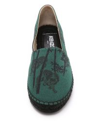 KENZO - Green Bamboo Tiger Espadrilles - Vert Bouteille - Lyst