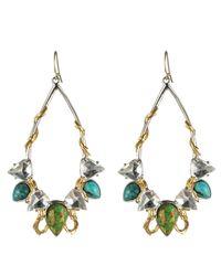 Alexis Bittar - Multicolor Elements Olmeca Turquoise Two Tone Teardrop Earrings - Lyst