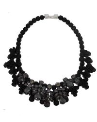 EK Thongprasert - Black Washington Heights Silverplated Cubic Zirconia and Silicone Necklace - Lyst