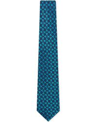 Charvet | Blue Abstract Floral Silk Tie for Men | Lyst