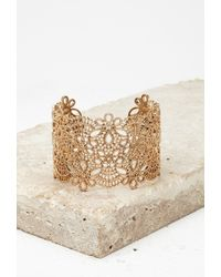 Forever 21 | Metallic Spike Caged Cutout Cuff | Lyst