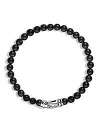 David Yurman | Metallic Spiritual Beads Bracelet With Black Onyx for Men | Lyst