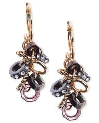 Jones New York | Multicolor Gold-tone Cluster Crystal Link Drop Earrings | Lyst