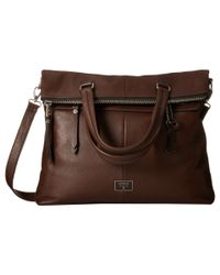 Fossil | Brown Dawson Fold-over Tote | Lyst