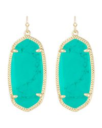 Kendra Scott - Green Elle Earrings Teal - Lyst