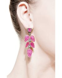 Sylva & Cie | Red One Of A Kind Old European Cut Earrings | Lyst