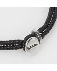 Paul Smith | Men's Silver Ganesh Charm Black Bracelet for Men | Lyst