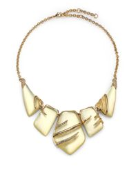 Alexis Bittar - Natural Vert D'Eau Lucite & Crystal Sabre Articulated Bib Necklace - Lyst