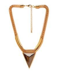 Forever 21 - Metallic Futuristic Statement Necklace - Lyst