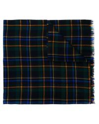 Etro - Blue Checked Scarf for Men - Lyst