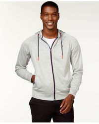 Tommy Hilfiger | Gray Austin Zip-front Performance Hoodie for Men | Lyst