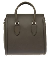 Alexander McQueen - Gray Medium Dark Grey Heroine Bag - Lyst