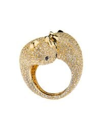 Noir Jewelry - Metallic Two Faced Hello Kitty Ring - Lyst