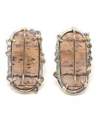 Kimberly Mcdonald | Pink Cobalto Calcite and Irregular Diamond Earrings | Lyst