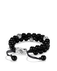 David Yurman - Spiritual Beads Tworow Bracelet with Black Onyx for Men - Lyst