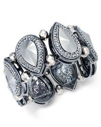 Style & Co. | Gray Style&co. Hematite-tone Teardrop Stretch Bracelet, Only At Macy's | Lyst
