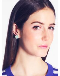 Kate Spade | Green Kate Spade Earrings Small Square Studs | Lyst