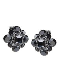 Carolee | Black Jet Crystal Cluster Earrings | Lyst