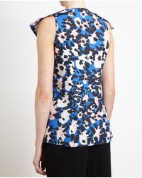 Marni - Blue Dancer Print Pussybow Blouse - Lyst