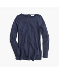J.Crew | Blue Sweatshirt With Side Slits | Lyst