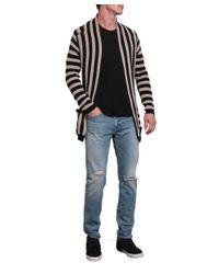 Laneus - Multicolor Striped Cotton Cardigan With Belt for Men - Lyst