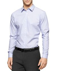 Calvin Klein | Purple Non-iron Striped Sportshirt for Men | Lyst