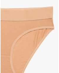 Baserange - Natural Elastic Bell Pants In Sand - Lyst