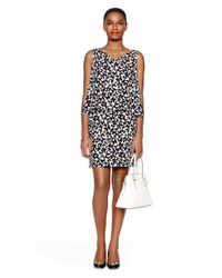 kate spade new york | Black Butterfly Double Layer Dress | Lyst