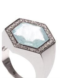 Jade Jagger | Blue Diamond, Aquamarine & White-Gold Ring | Lyst