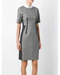 Paul Smith Black Label | Gray Shortsleeved Fitted Dress | Lyst