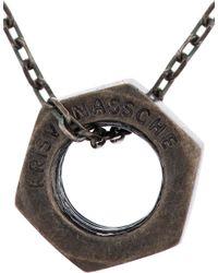 Kris Van Assche | Metallic Silver Tarnished Bolt Necklace for Men | Lyst