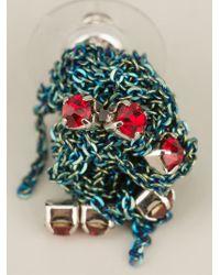 Arielle De Pinto - Metallic Crochet Earrings - Lyst