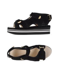 Preen By Thornton Bregazzi - Black Sandals - Lyst
