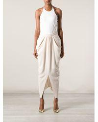 Sharon Wauchob - Natural Draped Skirt - Lyst