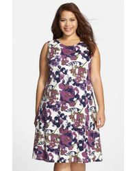 Lyssé - Purple 'margot' Sleeveless Fit & Flare Dress - Lyst