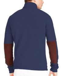 Ralph Lauren | Blue Polo French Terry Mockneck Pullover for Men | Lyst