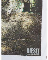 DIESEL - White 't-joe-ad' T-shirt for Men - Lyst
